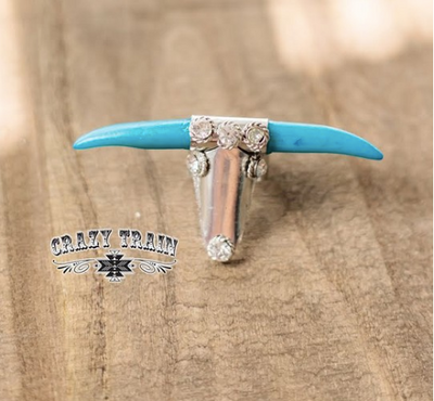 Bull Twinkle Turquoise Ring by Crazy Train
