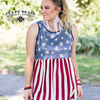 The Bristol Patriotic Sparkle Tank Top