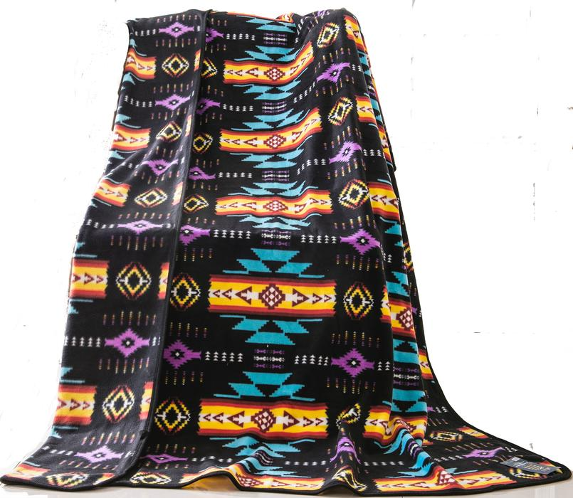 Southwestern Plush Queen Sized Blanket