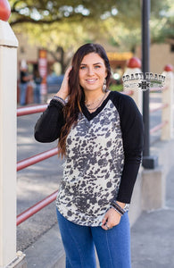 The Yeehaw Cow Print Top (S-3XL)