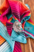 Feathered Indian Slide Ring (Turquoise)