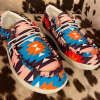 Giddy Up Aztec Slip On Shoes