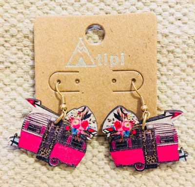 Vintage Camper Earrings - Glamping