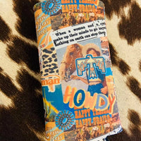 Collage-Howdy + Happy Trails Slim Can Cooler