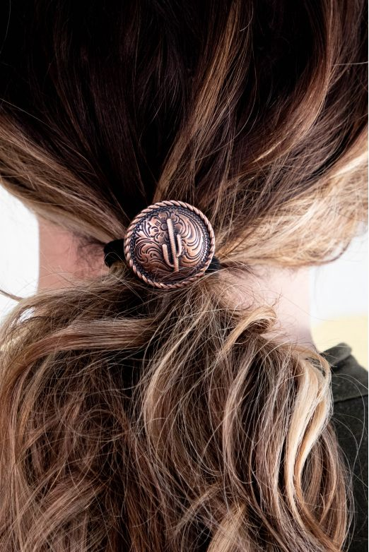 The Golden Cactus Concho Hair Tie