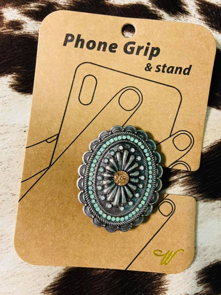 Silver Concho Phone Grip