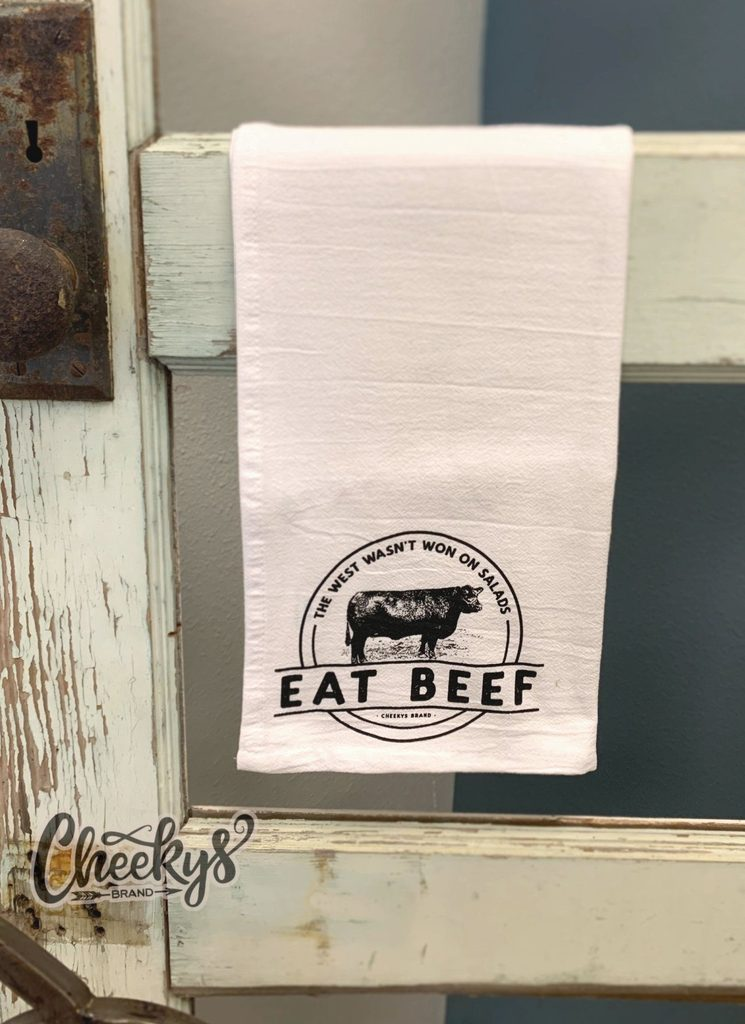 Eat Beef Kitchen Dish Towel