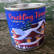 Crackling Firewood Paint Can Candle | 1/2 Pint