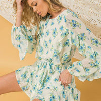 Where The Sidewalk Ends Floral Print Romper