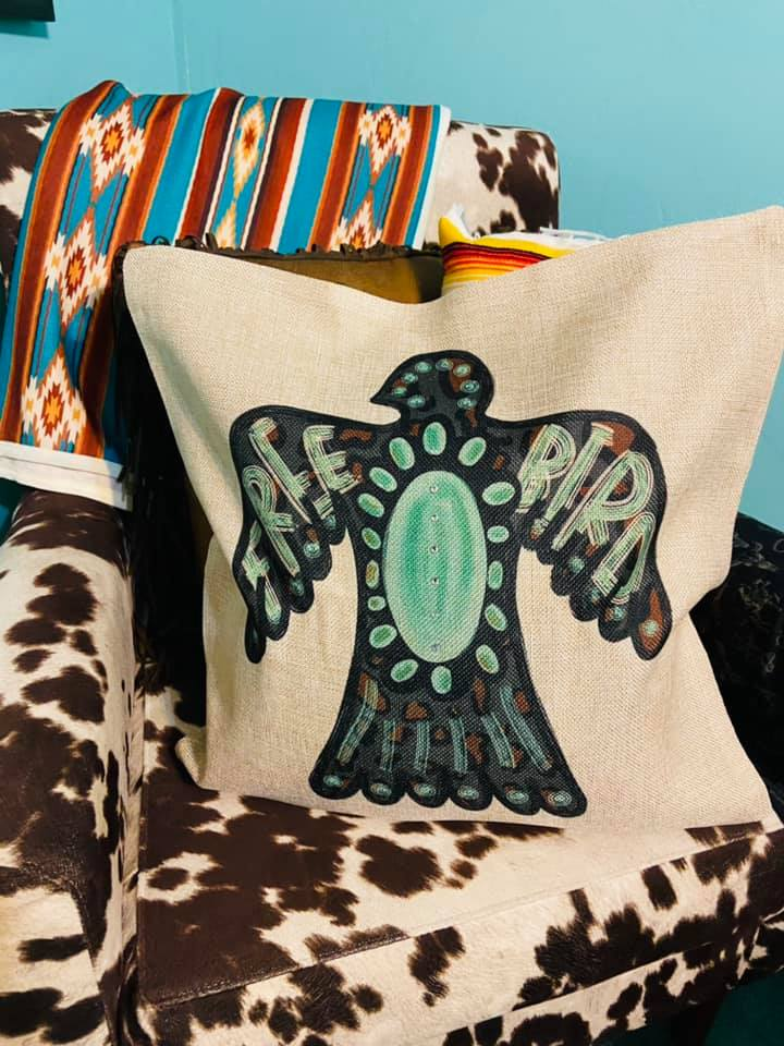 The Turquoise Thunderbird Pillow Cover