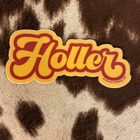 Holler Southern Sayings Sticker