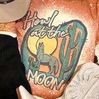 Howl At The Moon Bleached Graphic Tee