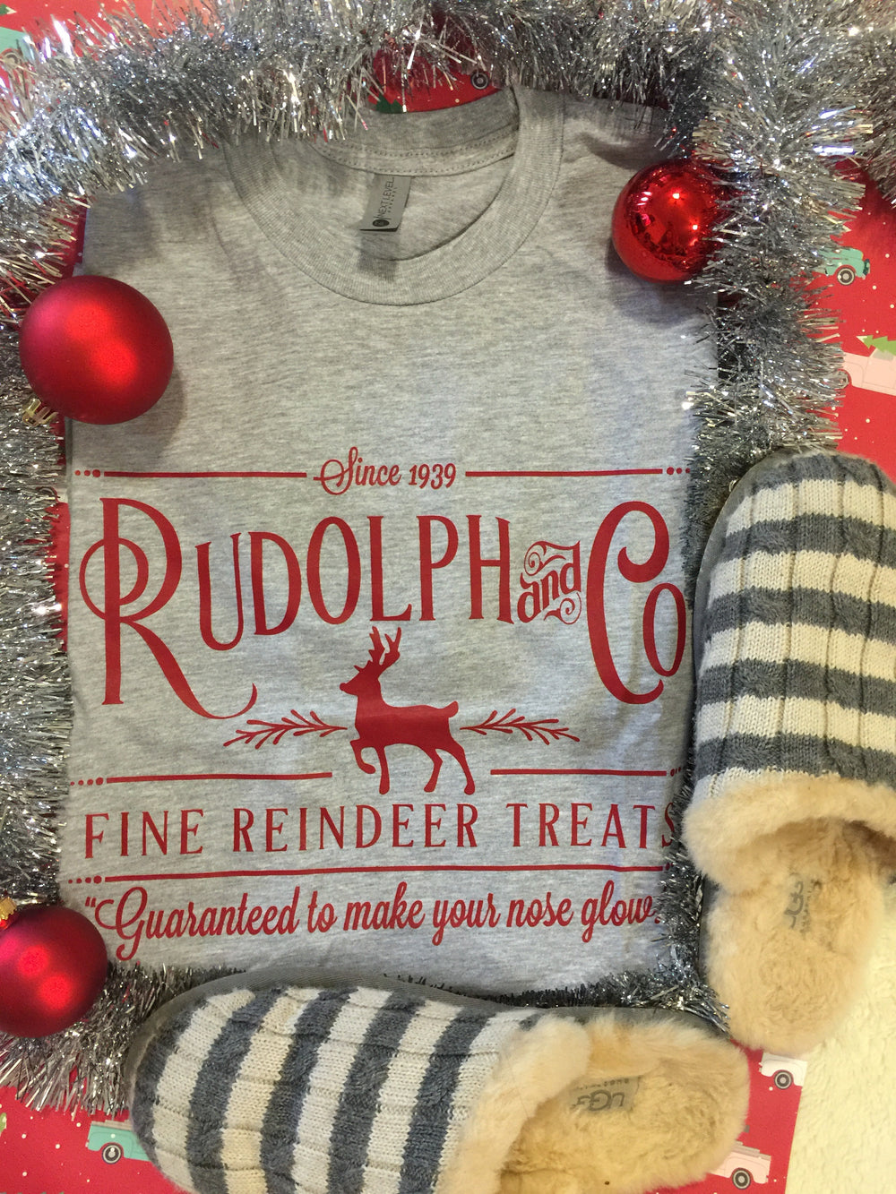 Rudolph + Co Reindeer Treats Christmas Graphic Tee