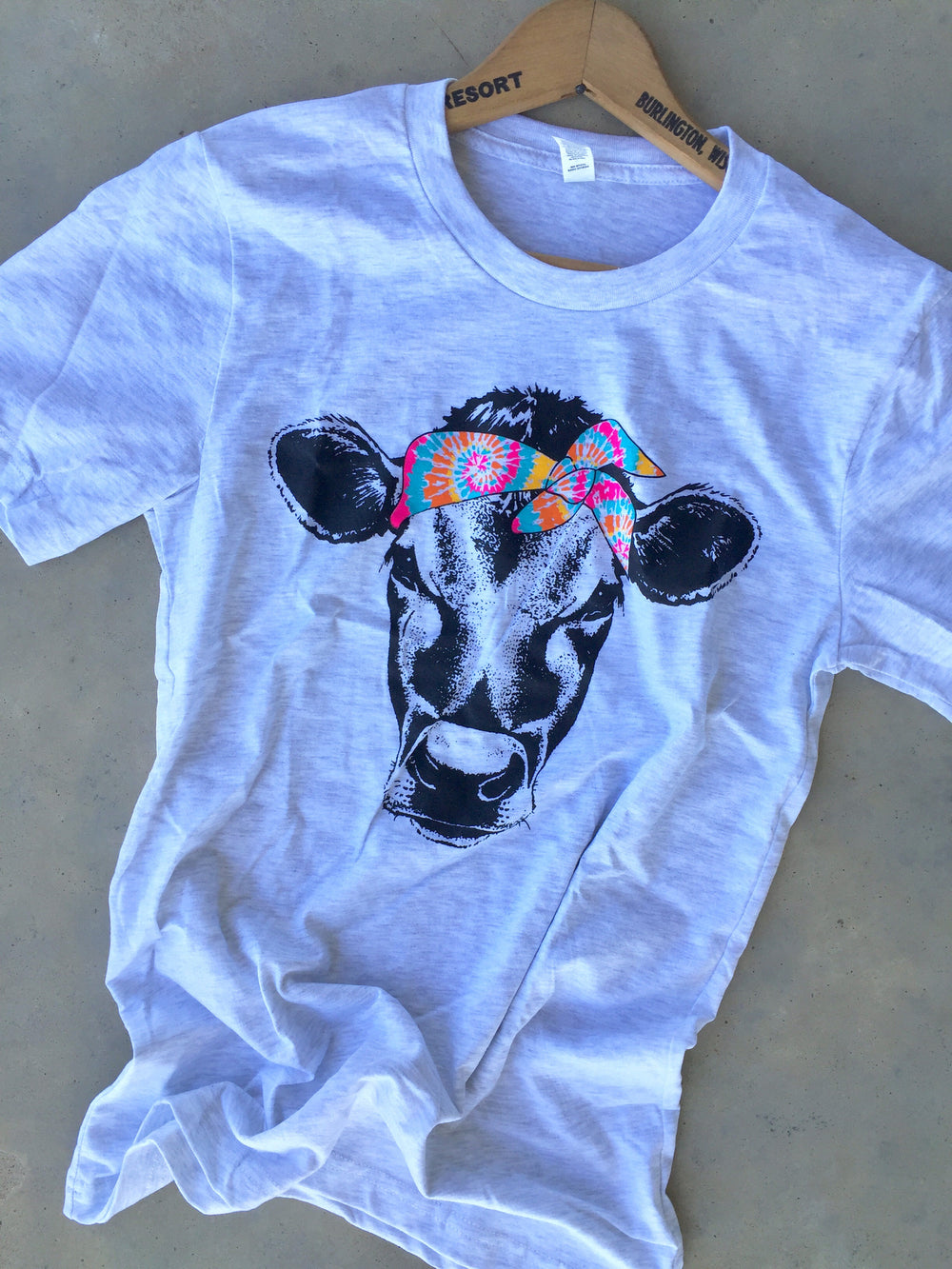 The Coweta Funky Cow Tye Dye Graphic Tee