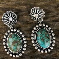 The Flint Hill Round Turquoise Earrings