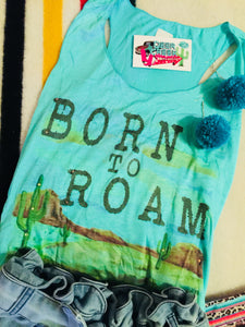 The Wheeler Born To Roam Graphic Tank Top