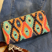 The Desert Dreamer Aztec Tribal Print Wallet