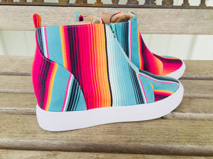 The Rio Rancho Serape Wedge Sneakers (Crazy Train)