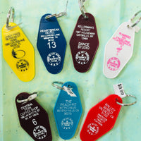 The Jefferson Retro Motel Keychain