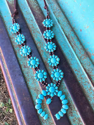 The Walters Turquoise Squash Blossom Necklace