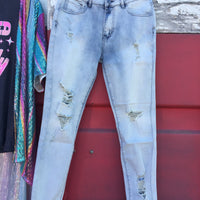 The Renfrow Distressed Skinny Jeans