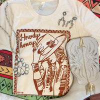 The Terra Howdy Honey Western Graphic Tee