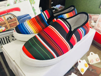 The Dover Serape Canvas Slip On Shoes