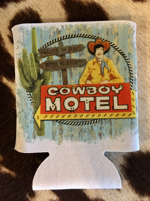 The Rosebud Cowboy Motel Can Cooler