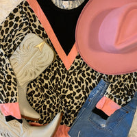 The Wagoner Leopard Print Long Sleeved Top (Pink S-3XL)