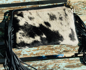 The Queen City Hair On Hide With Regalite Stone Crossbody Purse (Made in usa)