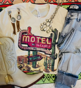 The Garrison Cactus Motel Western Graphic Tee