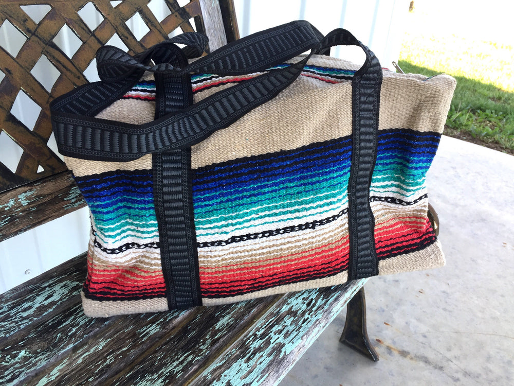 The Desperado Serape Weekender Duffel Bag (Tan)