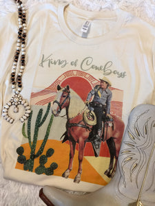 The Fort Laramie King Of Cowboys Western Graphic Tee