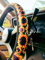 The Sun City Sunflower Steering Wheel Cover