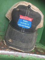 Farm Security Distressed Ball Cap Hat