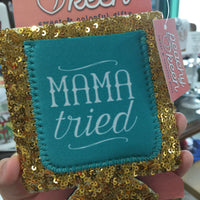Mama Tried Sequin Can Cooler
