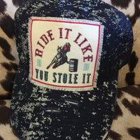 The Bristol Barrel Racer Distressed Ball Cap Hat