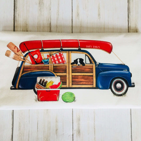 Lake Life Station Wagon Tea Towel - MLT
