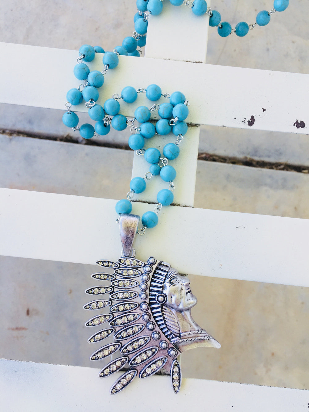 The Waurika Turquoise Indian Necklace