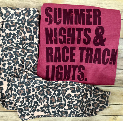 Summer Nights & Race Track Lights Graphic Tee