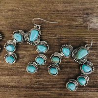 The Warren Squash Blossom Earrings (Turquoise)