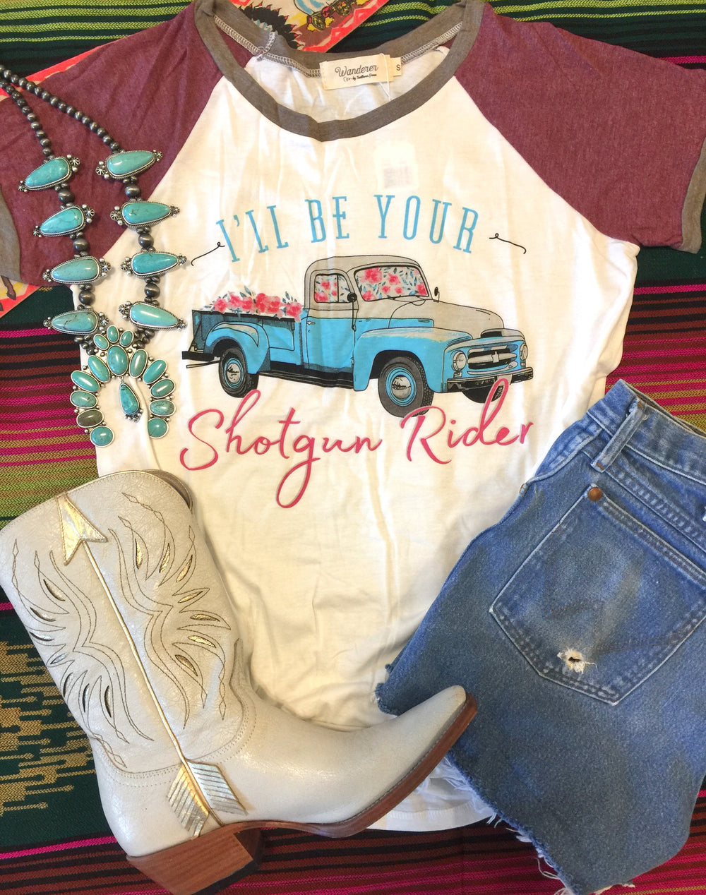 The Old Flats Shotgun Rider Pickup Truck Graphic Tee