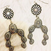 The Silverton Squash Blossom Concho Earrings