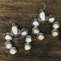 The Warren Squash Blossom Earrings (White)