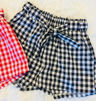 The Slapout Gingham Printed Shorts (Red or Black)