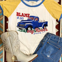Blame It On My Roots Graphic Tee