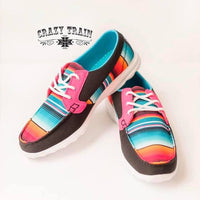(Ready to ship) Stay In Line Serape Print Walker Shoes by Crazy Train