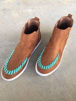 The Cerro Vista Brown + Turquoise Sneakers