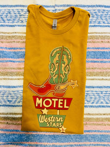 The Wheeler Western Stars Motel Graphic Tee