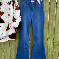 Walk The Line Denim Bell Bottom Flare Jeans